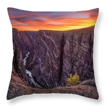 Black Canyon Of The Gunnison Throw Pillow