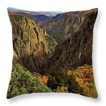 Black Canyon Of The Gunnison - Colorful Colorado - Landscape Throw Pillow by Jason Politte