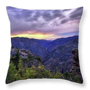 Black Canyon Sunset Throw Pillow
