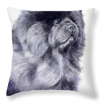 Black Chow Chow  Throw Pillow