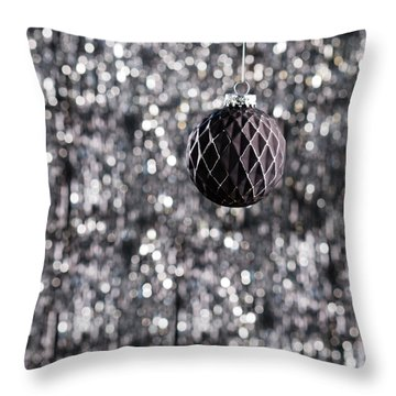 Throw Pillow featuring the photograph Black Christmas by Ulrich Schade