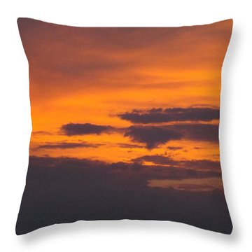 Black Cloud Sunset  Throw Pillow by Don Koester