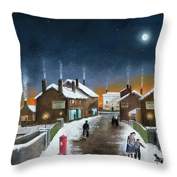 Black Country Winter Throw Pillow