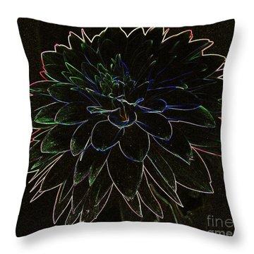 Black Dahlia Throw Pillow