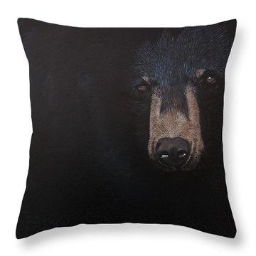 Black Danger Throw Pillow