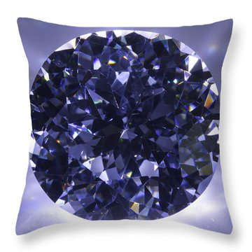 Black Diamond Shine Aura. Throw Pillow by Atiketta Sangasaeng