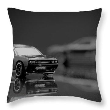 Black Dodge Challenger Throw Pillow