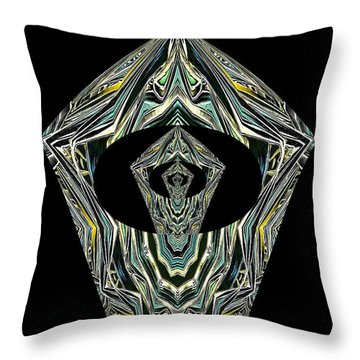 Throw Pillow featuring the photograph Black Enigma by Oksana Semenchenko
