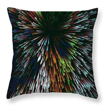 Black Explosion By Nico Bielow Throw Pillow