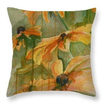 Black Eyed Susans Throw Pillow by Gretchen Bjornson