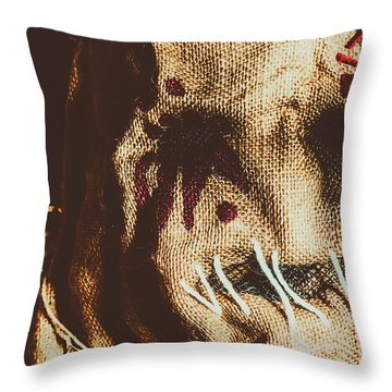Black Eyes And Dried Out Hearts Throw Pillow
