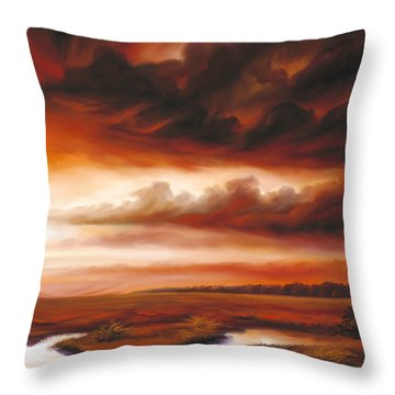 Black Fire Throw Pillow by James Christopher Hill