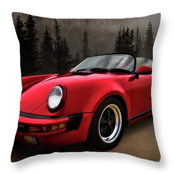 Black Forest - Red Speedster Throw Pillow