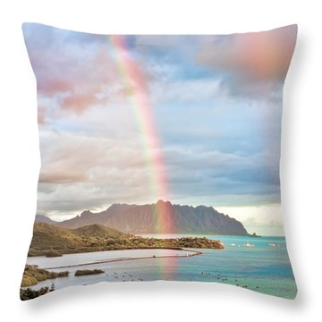 Black Friday Rainbow Throw Pillow