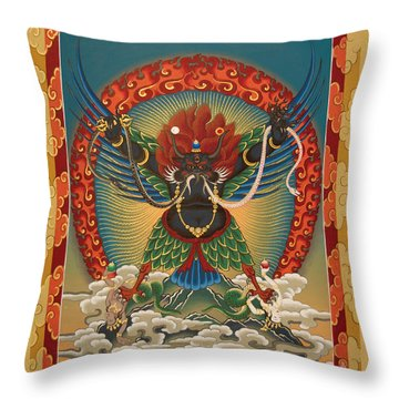 Black Garuda - Tsasum Tersar Throw Pillow
