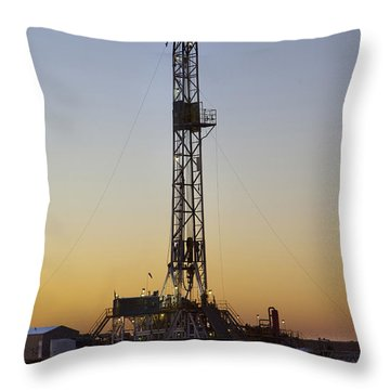 Black Gold Throw Pillow