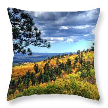 Black Hills Autumn Throw Pillow