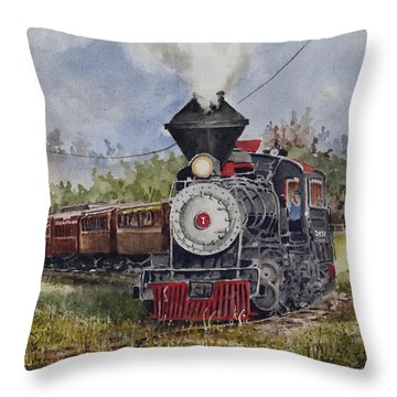 Black Hills Central Number 7 Throw Pillow