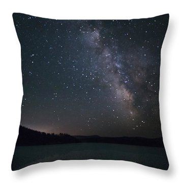 Black Hills Nightlight Throw Pillow