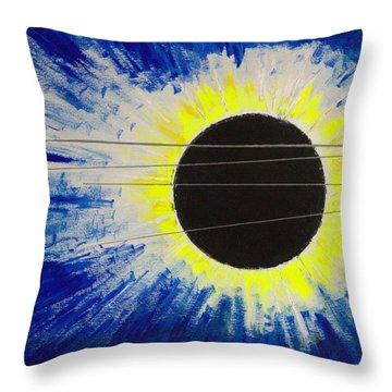Black Hole Blues Throw Pillow
