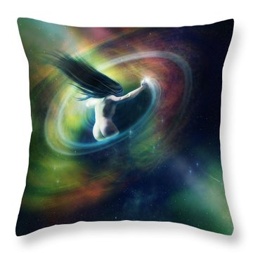 Black Hole Throw Pillow by Mary Hood