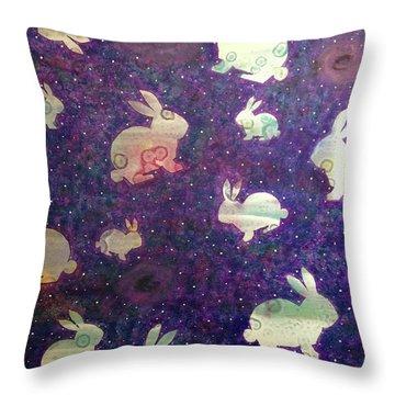 Black Holes And Bunnies Throw Pillow