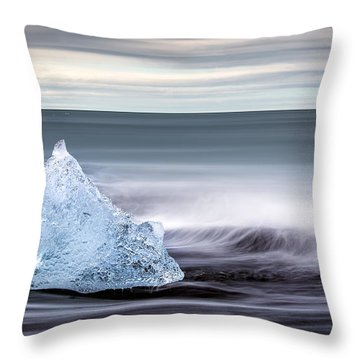 Black Ice Throw Pillow
