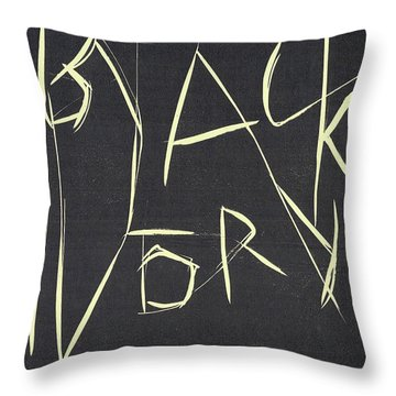 Black Ivory Title Page Throw Pillow