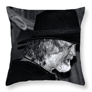 Throw Pillow featuring the photograph Black Jack-rock Band Musician by Renee Anderson