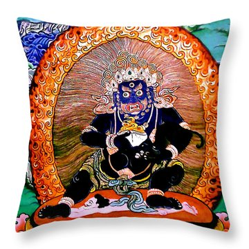 Black Jambhala  5 Throw Pillow by Lanjee Chee