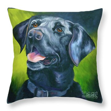 Black Lab Forever Throw Pillow