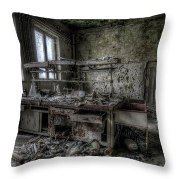 Throw Pillow featuring the digital art Black Lab by Nathan Wright