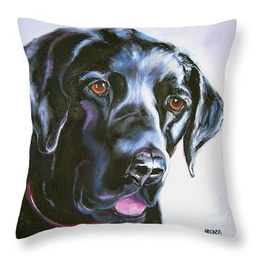 Black Lab No Ordinary Love Throw Pillow
