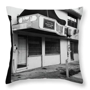 Black Label Lounge Throw Pillow by Anna Villarreal Garbis