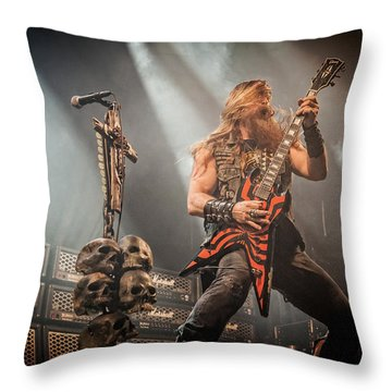 Black Label Society II Throw Pillow