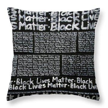 Black Lives Matter Wall Part 3 Of 9 Throw Pillow