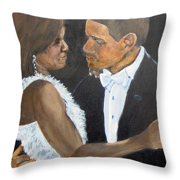 Throw Pillow featuring the painting Black Love Is Black Power by Saundra Johnson