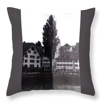 Black Lucerne Throw Pillow by Christian Eberli