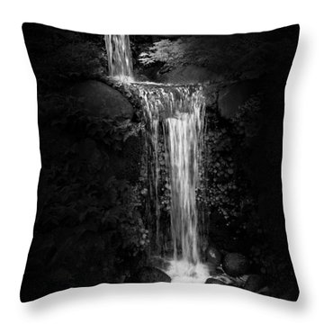 Black Magic Waterfall Throw Pillow