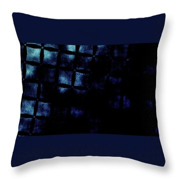Black N Blue Burn Throw Pillow by Carol Crisafi