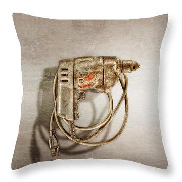 Black N Decker Drill Motor Throw Pillow