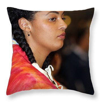 Black Native Throw Pillow