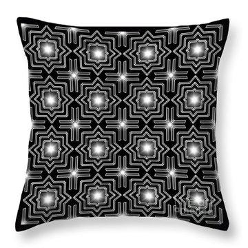 Black Night Lights Throw Pillow