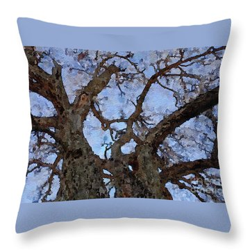 Throw Pillow featuring the painting Black Oaks by Mark Greenberg