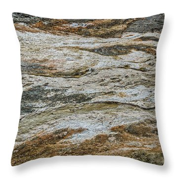 Throw Pillow featuring the photograph Black Obsidian Sand And Other Textures by Sue Smith