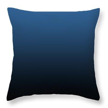 Black Ombre Throw Pillow