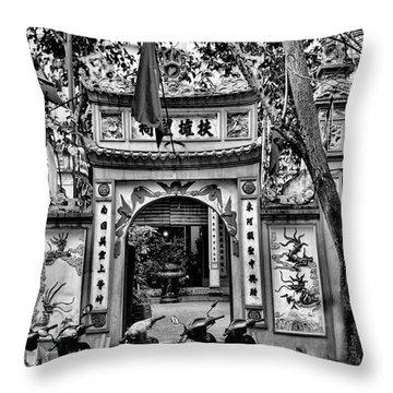 Black Pagoda Hanoi Throw Pillow