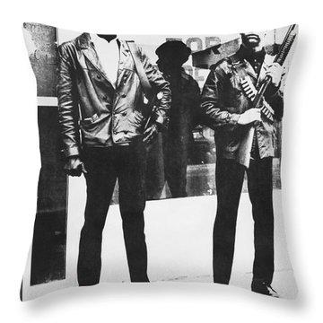 Black Panther Poster, 1968 Throw Pillow