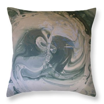 Black Panthers Kissing In Ice Cave Throw Pillow