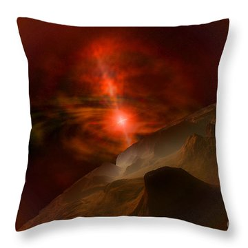 Black Pearl Throw Pillow by Corey Ford